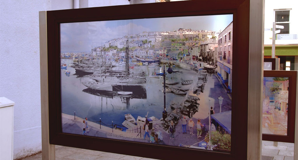 Window On The Bay - Brixham Harbour 1924 and 2007